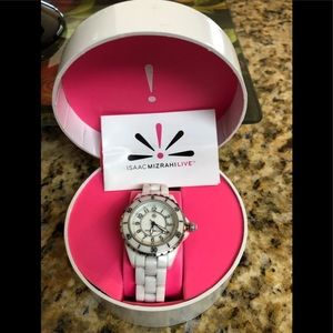 Isaac Mizrahi Ceramic Watch - White 🤍